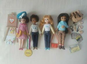 Arklu Lottie Doll Lot of 4 Dolls plus Accessories