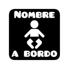 b51 Bebé a bordo Adhesivo Pegatina Vinilo Sticker Cristal niño niña Chapa.