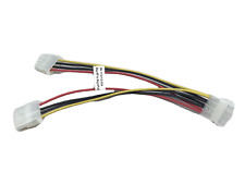 "SATA 8""Big 4 Pin Male to 2x 4 Pin Female Power Y-Splitter Cable IDE IP410 Pack."