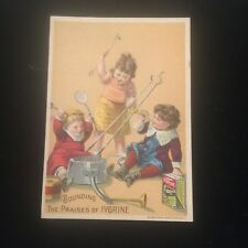 Antique Ivorine The Wonderful Cleaner Victorian Trading Card Glastonbury CT