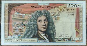 Billet de 500 nouveaux francs MOLIÈRE 7 - 4 - 1960 FRANCE Y.6
