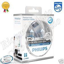 LAMPADE PHILIPS White Vision H7 12V 55W + 60% 4300K + 2 LUCI DI POSIZIONE W5W