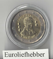 België   2 Euro   2009  Commemorative  LOUIS  BRAILLE   UNC    IN STOCK
