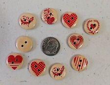 "Deer Scrapbook Craft Pkg of 20 RED ELK 2-hole Wooden Buttons 5//8/"" 15mm 3956"
