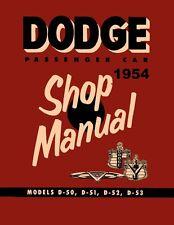1954 Dodge Coronet Custom Royal Shop Service Repair Manual Engine Drivetrain OEM