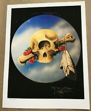 SIGNED By STANLEY MOUSE 'CYCLOPS' FINE ART PRINT 17 x 22 TEST PRINT