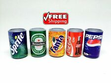 3Dsoft drink Mini Fridge Magnet  5 Cans Collectables Dollhouse Miniature Free SH