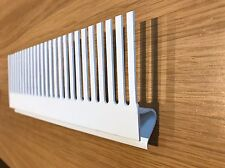 300mm length.White PVC 50mm Groove Aquarium Tank Weir Comb. 3 Styles available