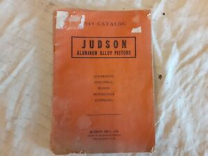 1949 JUDSON Aluminium Alloy Piston Catalogue  , American Car & Motorcycle