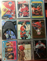 Guy Lafleur Dryden Thibault Koivu Bossy Roy Montreal Canadians 9 Card Lot