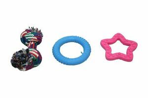 Pets Cats Dogs Fun Fetch Teething Chewing Playing Set Dummy Rope Pets ,6041