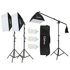 """86"""" Photography Studio 3 Soft Box Light Stand Continuous Lighting Kit Diffuser"""