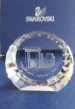 Swarovski, Ponte San Rocco 50mm Disc paperweight,Signed. Art No 271136.