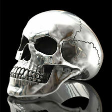 Skull Head Ring Silver Punk Hip Hop Biker Skulls Stainless Jewelry Rings