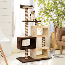Multi-Level Cat Tree Cat Scratcher Climbing Tower Condo Play House