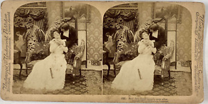 Underwood, Stéréo, And they lived happily ever after Vintage stereo card,  Tir
