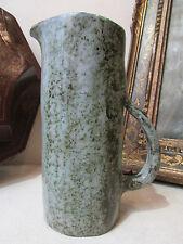 ancien pichet en poterie vernissée vintage design annees 1970