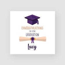 Personalised Handmade Purple Hat Graduation Card - Her, Daughter, Granddaughter