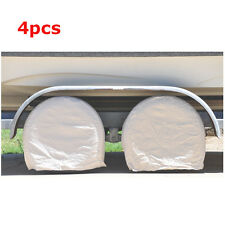 "4pcs 32""Canvas Wheel Wide Tire Covers for RV Camper Trailer Car Truck Motor Home"