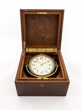 Very rare Longines ship´s / marine chronometer, caradanic suspension, 1940´s