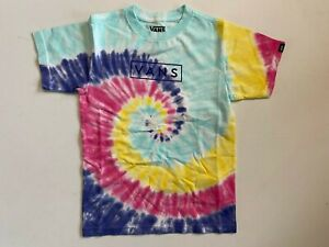 Vans New Tie Dye Easy Box Rainbow Short Sleeve T-Shirt Youth Boy's 5/M
