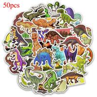 50 Pcs dinosaur sticker cute anime decal stickers for children laptop suitcas ^D