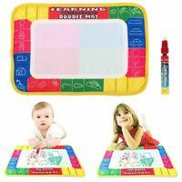 Aqua Doodle Water Painting Drawing Mat Large Writing Board Magic Pen Kids Toy UK