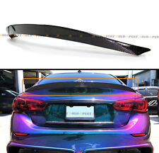 FITS FOR 2014-2017 INFINITI Q50 Q50S VIP O-TYPE CARBON FIBER TRUNK SPOILER WING