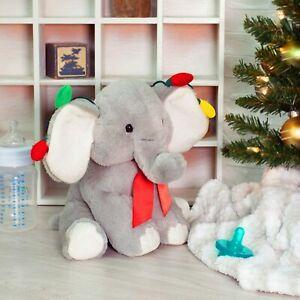 Ganz H1 Weihnachten 9in Urlaub Lichter Elefant Plüschtier Spielzeug HX11718