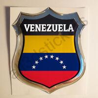 Pegatina Venezuela 3D Escudo Emblema Vinilo Adhesivo Resina Relieve Coche Moto