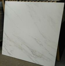 TILES JOBLOT 85: White Carrara marble look matt porcelain tiles 60x60 30m2