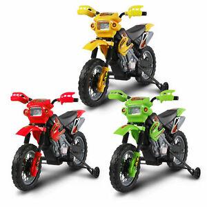 Kids Motorbike Motocross Ride On Motorcycle Toy Electric Scooter Bike 6V Battery