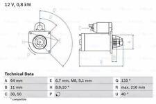 Bosch 0986021590 Anlasser 2159 12 V 0,8 Kw Leistung