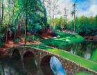 painting golf Augusta National original oil fine art sports art 12th hole