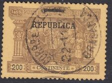 PORTUGAL:1911 200 reis Postage Due opt REPUBLICA SG451 fine used