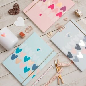 Matilda MOO A5 Lined Notebook - Hearts Collection - 3 Different Colours
