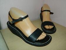 Clarks black leather buckle wedge sandals uk 5 eur 38