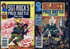 Sgt. Rock's Prize Battle Tales PAIR UNREAD DC Digest Blue Ribbon Books War Comic