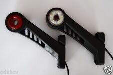 2x Rot/Weiß Seitenmarkierung Rotierend Spinnen Lampen 24V Lichter Anhänger Lkw