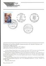 ITALIA 1997 ARISTIDE MERLONI  BOLLETTINO COMPLETO DI FRANCOBOLLI FDC