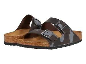 Men's Shoes Birkenstock ARIZONA Soft Footbed Slide Sandals 1013015 CAMO BROWN