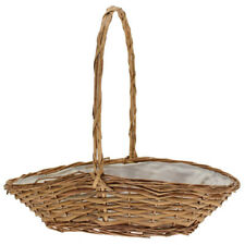 Golden Punt Wicker Basket with Handle x 37cm - Lined - Flower Plant Gift Display