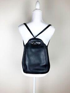 Vintage Coach Black Backpack Bucket Bag Drawstring Top Handle RARE