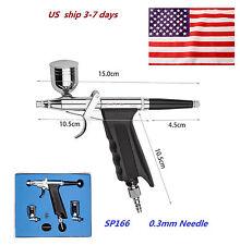 SP166 Dual Action Trigger Air-paint Control Spray Gun Type Airbrush Paint Art US