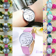 """""""Whatever I'm late anyway"""" Womens Mens Wristwatch Fashion Leather Quartz Watches"""
