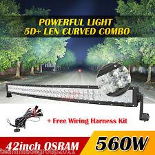 "5D 42""Inch 560W OSRAM Curved Led Work Light Bar Spot Flood Offroad 4WD Truck ATV"