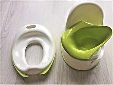 IKEA 2 Children's Pottys  LOCKIG & Tossig  White Green Trainer Baby Toddler Seat