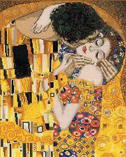 RIOLIS  1170  Le Baiser  d'après  Gustav Klimt  Kit  Point de Croix  Compté