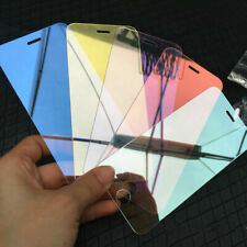Colored Tempered Glass Reflective Mirror Screen Protector For iPhone 6 7 8 X