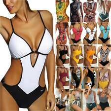 Women Cut Out Swimwear Monokini Lady One Piece Bikini Swimsuit Swimming Costume